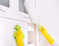 Kitchen cleaning concept Stock Images