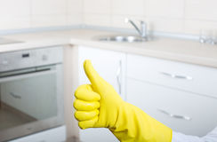 Kitchen cleaning concept Stock Photo