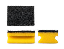 Kitchen cleaning sponge isolated Royalty Free Stock Images
