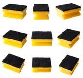 Kitchen cleaning sponge isolated set Royalty Free Stock Photos