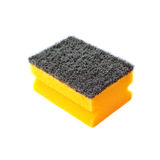 Kitchen cleaning sponge on white background stock photography