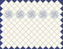 Kitchen clear blue tile with ornament. Stock Photography