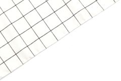 kitchen cloth (napkin) on white background Royalty Free Stock Images