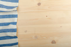 Kitchen cloth on wood background Stock Images
