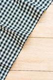 Kitchen cloth on wood table. With copy space - Vintage Filter Royalty Free Stock Photography