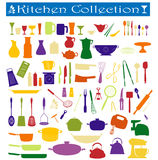 Kitchen collection. A big collection of everyday kitchen essentials Royalty Free Stock Photo