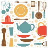A kitchen collection retro style Stock Photo