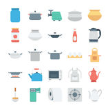 Kitchen Colored Vector Icons 4 Stock Photos