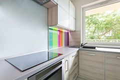 Kitchen with colourful decoration Stock Image