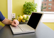 Kitchen Computer Stock Image