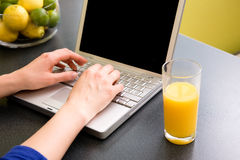 Kitchen Computer Royalty Free Stock Photo