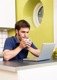 Kitchen Computer Stock Images