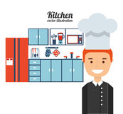 Kitchen concept  design Royalty Free Stock Image
