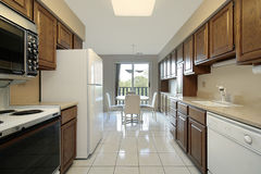Kitchen in condo Stock Images