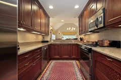 Kitchen in condominium Royalty Free Stock Images
