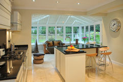 Kitchen and Conservatory Royalty Free Stock Photos