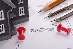 Kitchen Construction Stock Photography