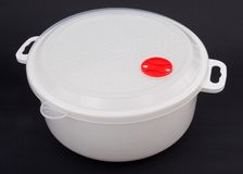 Kitchen container. White kitchen container royalty free stock image
