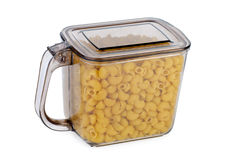 Kitchen container ful of uncooked Royalty Free Stock Photography