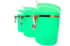 Kitchen containers royalty free stock images