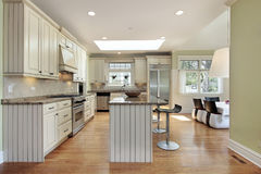 Kitchen in contemporary home Stock Image