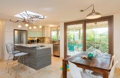 Kitchen in Contemporary Home Stock Photos