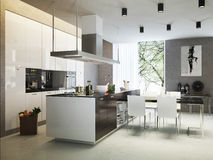 Kitchen contemporary style Royalty Free Stock Photo