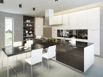 Kitchen contemporary style Royalty Free Stock Photography