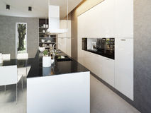 Kitchen contemporary style Stock Photos