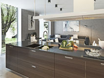 Kitchen contemporary style Stock Images