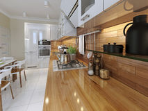 Kitchen contemporary style Stock Photo
