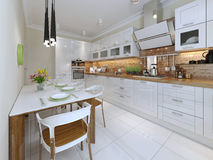 Kitchen contemporary style Royalty Free Stock Photos