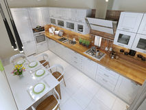 Kitchen contemporary style Stock Image