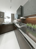 Kitchen contemporary style Stock Photos