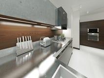 Kitchen contemporary style Royalty Free Stock Photos