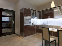 Kitchen in contemporary style Royalty Free Stock Photo