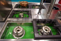 Kitchen cook tops. Kitche  cooktops with cleaning cycle Stock Photography