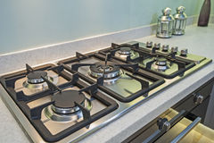 Kitchen cooker interior design of luxury apartment Stock Photo