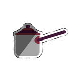 Kitchen cooker pressure. Icon  illustration graphic design Royalty Free Stock Images