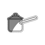 Kitchen cooker pressure. Icon  illustration graphic design Stock Image
