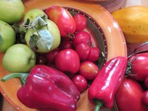 Kitchen cookery study peppers peppers tomato tomatoes chilli chili. Kitchen study peppers peppers tomato tomatoes chilli chili cookery cook cooking royalty free stock photography