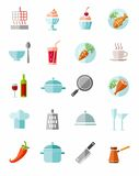 Kitchen, cooking, color icons. Royalty Free Stock Images