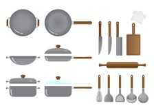 Kitchen and Cooking Equipment Set vector illustration