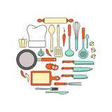 Kitchen and cooking equipment Royalty Free Stock Photography