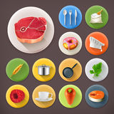 Kitchen and Cooking, icon set Stock Photo