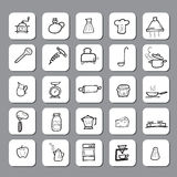 Kitchen and cooking icons Stock Image