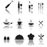 Kitchen and cooking icons set. Stock Photo
