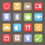 Kitchen cooking icons for web or mobile. Vector Royalty Free Stock Photo