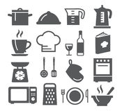 Kitchen and Cooking Icons Royalty Free Stock Photos