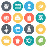Kitchen and Cooking Minimal Icon Set Royalty Free Stock Photos
